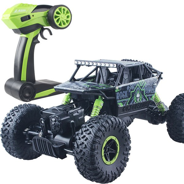 Rc Car 4wd 2 .4ghz Rock Crawl Rally Climbing Car 4x4 Double Motors Bigfoot Car Remote Control Model Off -Road Vehicle Toy 05033