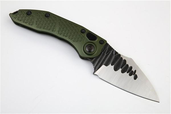 Stitch II Utiltiy Flipper Survival Folding knife M390 Blade Army Green Aluminum Handle EDC Pocket Tools Xmas Gift Knives For Men P976M F