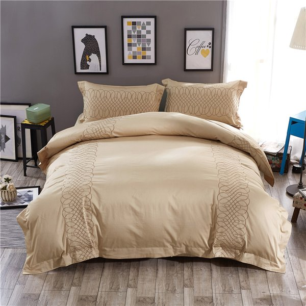 Mordern design beddings chinese embroidered bed sets satin egyptian cotton bedding sets bed linen sheet duvet cover 36