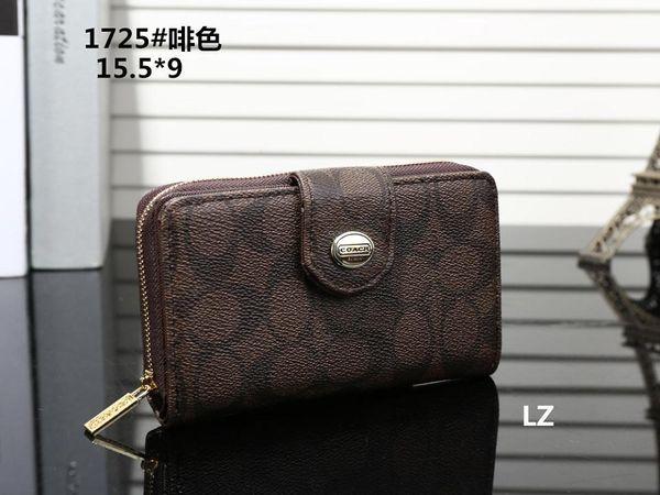Hot! 2019 Wholesale Famous Brand Fashion Single Zipper Cheap Luxury Designer Women Pu Leather Wallet Lady Ladies Long Purse M14