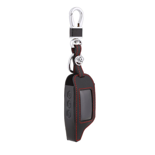 Case For Keychain Alarm A93 A63 Leather Car Alarm Remote Controller LCD Keychain Cover Car Accessories