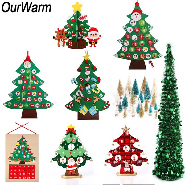 OurWarm Artificial Christmas Tree New Year's Products Kids Toys DIY Felt Xmas Tree Christmas 2018 Home Decoration Accessories