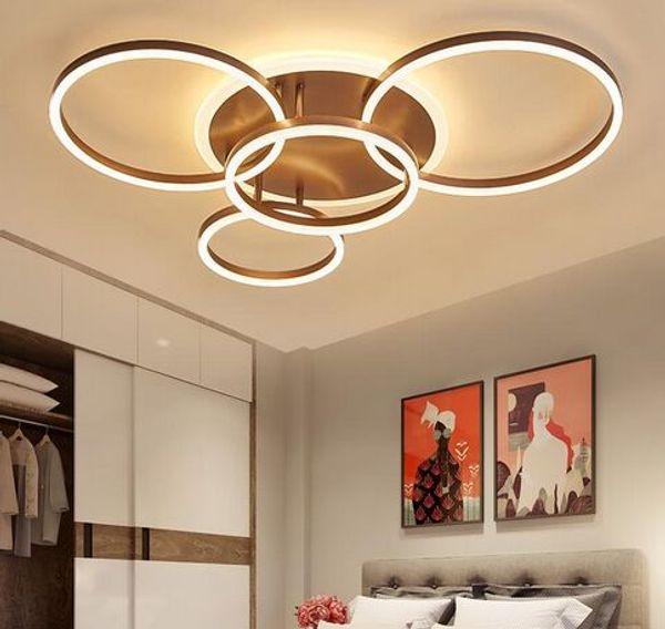 2/3/5/6 cercle sonne les lumières de plafond menées modernes pour le salon chambre à coucher salle d'étude blanc / lampe de plafond de couleur de MYY