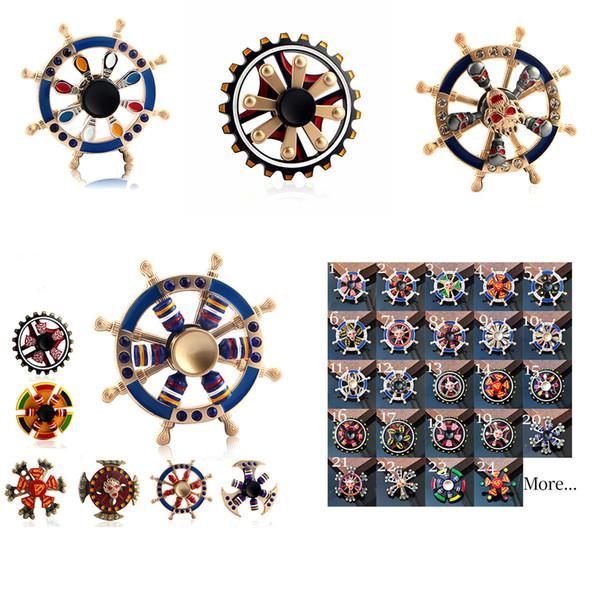 The Avengers 70 Newest Double Bearing Fidget Spinner Pirate Sailor Ship Wheel Gear Fingertip Gyro Fidget Hand Spinner Desk EDC Toy Spinner