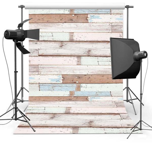 Fotografía de vinilo telones de fondo de madera suelo Photo telones de fondo para la impresión 5x7ft Estudio fotografia ordenador