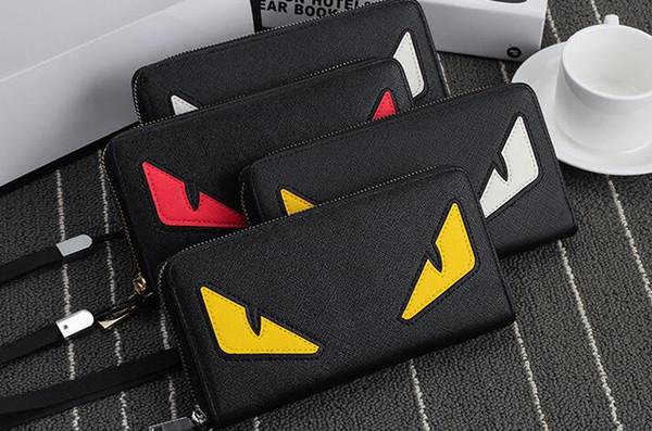 Kleine Monster Geldbörse für Männer lange Reißverschluss Persönlichkeit Handtasche Japan und Südkorea Mode Freizeit Jugend Cartoon Handtasche Trend