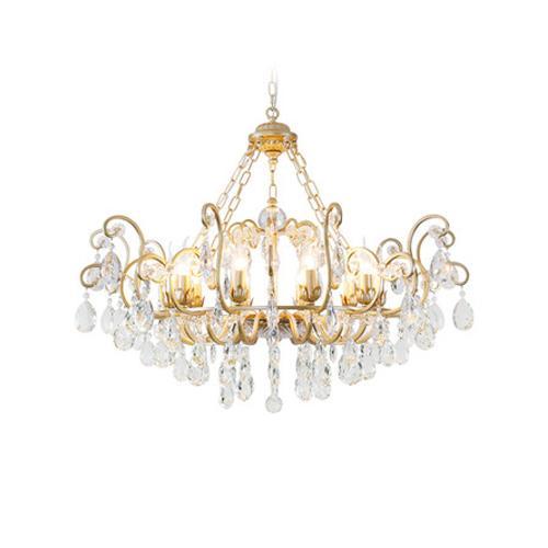 New design American crystal chandelier lamps living room retro loyal chandelier lights restaurant bedroom vintage led crystal pendant lamps