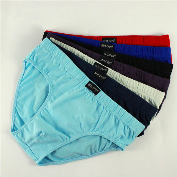Nueva llegada Sólido Briefs Venta Directa de Fábrica 4 unids / lote Hombre Breve Algodón Para Hombre Bikini Ropa Interior Pantalón Para Hombres Ropa Interior Sexy