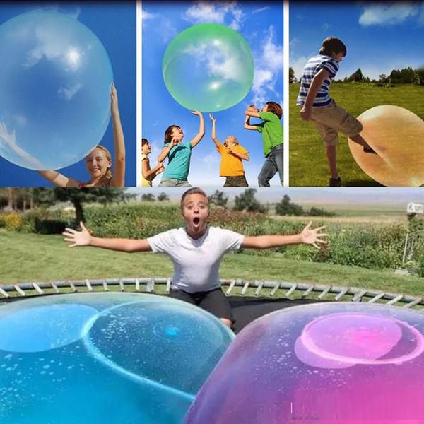 Increíble Bola de Burbujas Juguete Divertido Lleno de Agua Globo TPR Para Niños Adultos Al Aire Libre wubble bola de burbujas Juguetes Inflables Decoraciones Del Partido c0018
