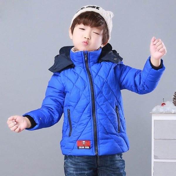 Winter Warm Outerwear Coats Down Toddler Boy Kids Clothes Infantil Parkas Cotton Brand Children Clothing Jacket New Enfant