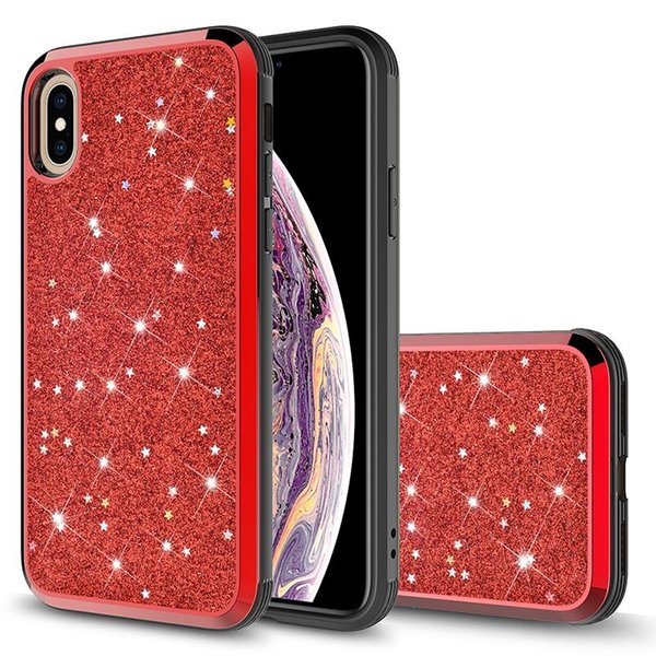 Premium bling 2 in 1 Luxury Diamond Rhinestone Glitter Phone Case For iPhone XR XS MAX X 8 7 6 S10 S10+A6 J6