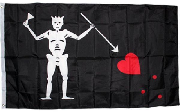 Livraison gratuite usine directe 100% polyester 90 * 150 cm 3x5 fts crâne barbe noire blackbeard Edward enseigner drapeau de pirate