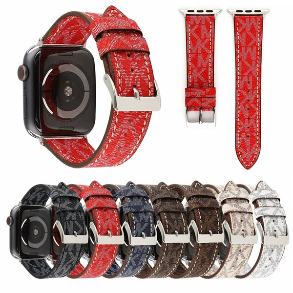 Exquisite Printing iwatch Band Sizes 38mm 42mm Pu Leather Watch Strap Bands For Apple Watchbands Replacement Wrist Strap