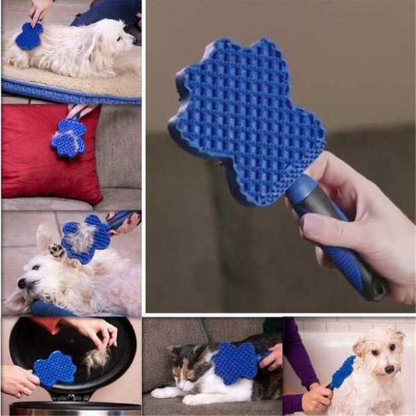 Pet Soft Comb Cleaning Brush Magic Dog Cat Massage sticky Groom Glider Dog Shedding Hair Brush Professional Grooming Tool