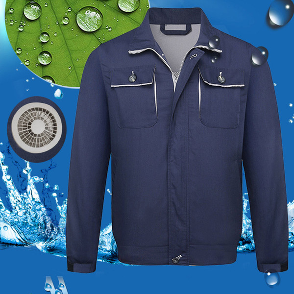 Été Hommes Manteaux et vestes climatisation Chaquetas Hombre Heatstroke Vêtements de travail extérieur contremesures Vestes Manteaux