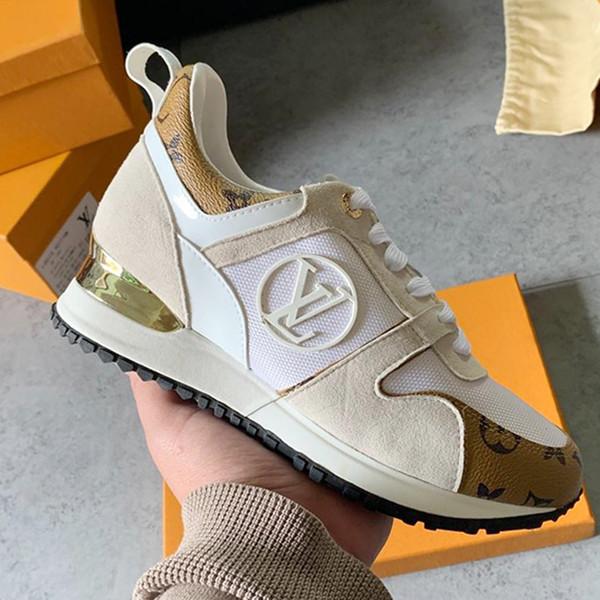e5665a80 Женская обувь Кроссовки на шнуровке Run Away Смешанные цвета Кожа Золотистые  металлические туфли на плоской подошве