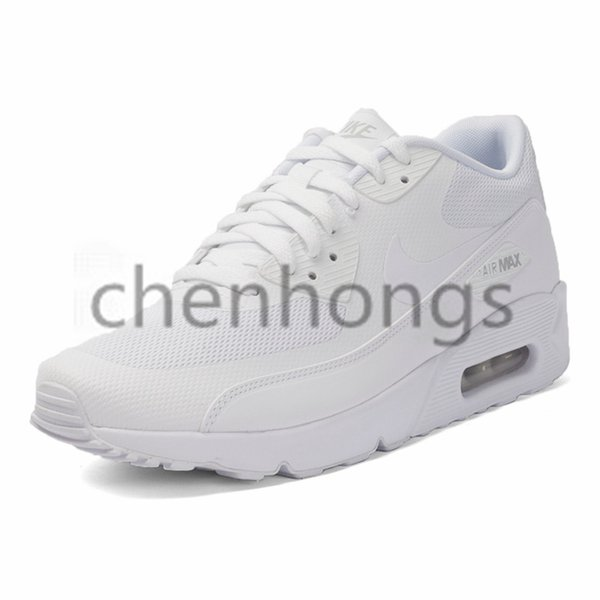 2019 Original Nike Air Max 90 ESSENTIAL Original 90s Airs Maxs New Arrival White Men Women Running Shoes Breathable Sport Outdoor Sneakers #537384 111