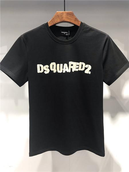 Sommer schnell trocknend neue Muster Herren Kurzarm T-Shirts reine Farbe junge Flut Kleidung Mode T-Shirts für Männer T-Shirts Designer