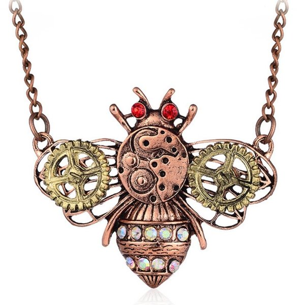 2018 Hot Sale Men' Jewelry Vintage Classic Steampunk Owl Gear Pendant Necklaces for Men Jewelry Silver Color