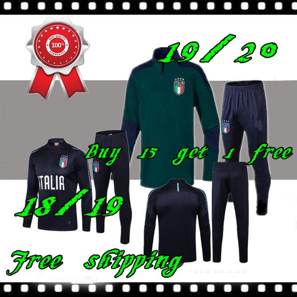 2019 2020 Italia chaqueta de traje de entrenamiento de fútbol 18 19 20 fútbol Verratti BONUCCI ropa deportiva Survetement establece chándal Italia