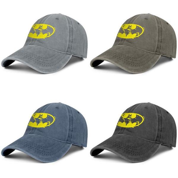 Batman bat logo jaune Unisexe sport rigolo 100% coton nouveau chapeau de cyclisme cricket chapeaux de baseball fascinateur Vs. Le Joker Split Dark