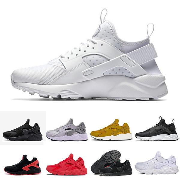 Compre Nike Air Huarache Barato Huarache 1 4 IV Clásico, Todo En Blanco Y Negro, Zapatos De Huaraches, Hombres Y Mujeres, Zapatillas De Deporte,