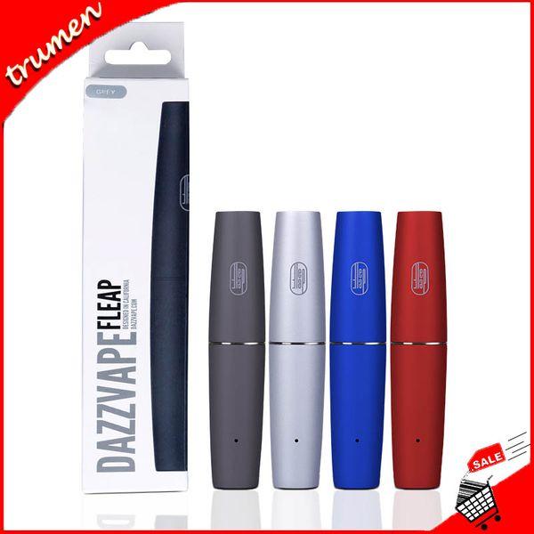 Authentic Dazzvape Fleap Battery Dual Magnetic Thread Double Cartridges Compatible 400mAh Auto Draw E Cigarette Vape Pen 100% Original