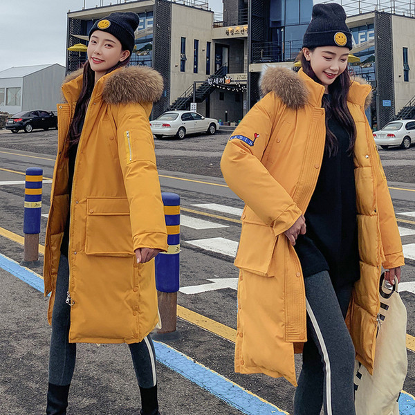 Oversize Long Coat 2019 New Fashion Full Zipper Solid Fashion Cotton Big Size Hooded Warm Winter Jacket Women Streetwear