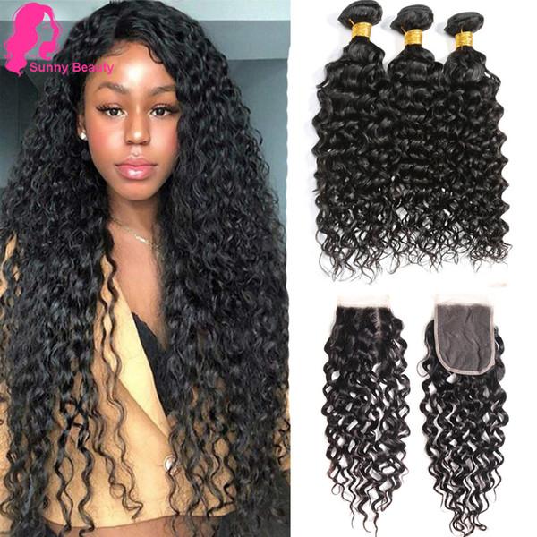 Ocean Hair Weave Weft 8A Water Wave Brazilian Hair Extension Big Curly 100% Unprocessed Virgin Human Hair Bundle 3pcs/lot Dyeable allove sex