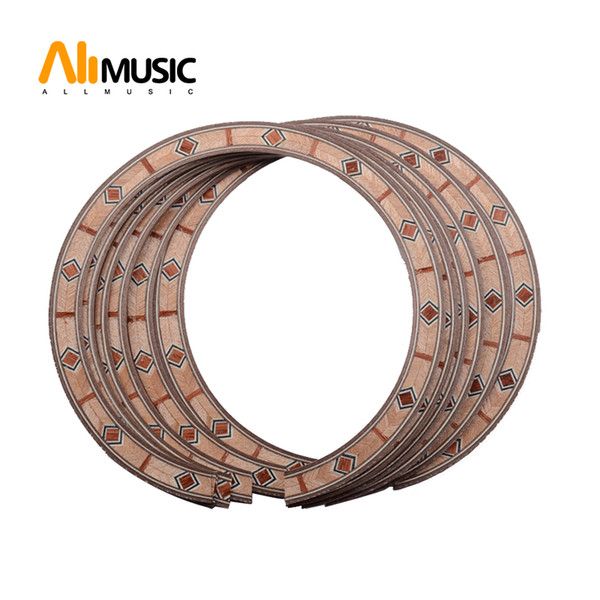 best selling 10Pcs Acoustic Guitar Soundhole Rosette Inlay Guitar Body Project Parts MU1396-5