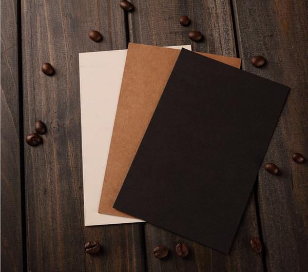 2019 Kraft Paper Blank Postcards diy business black/white paper postcards greeting card, invitation, note cards or letterpress