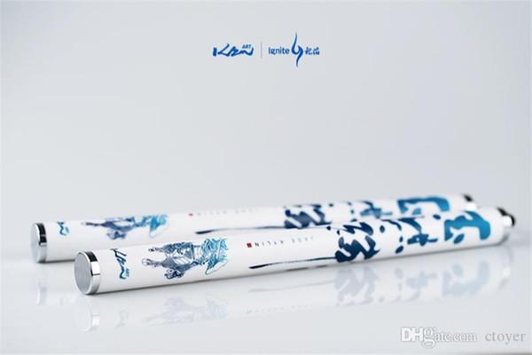 Новый 21 Серебряное пламя синий и белый фарфор нефрит Кирин магнитный нунчаки съемный 3 фантазии начинающих исполнение нунчаки танец цветок