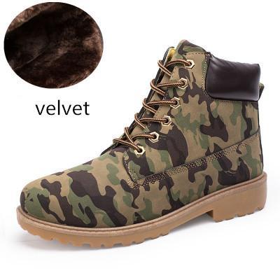 2019 Original Boots Mens Women Designer Boot Chestnut Triple Black White Camo Green Brown Martin Winter Boots size 36-45