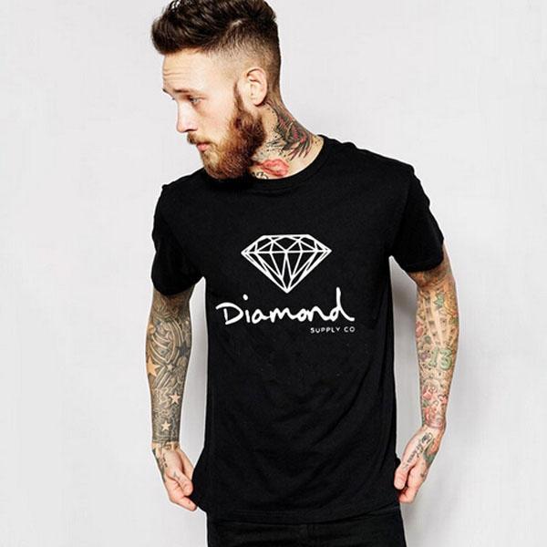 Diamond Supply Co Printed Man T Shirt New Summer Mens T-shirt Harajuku Casual Hip Hop Cotton Tees camisa AMD217