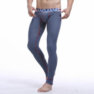 Hommes Coton Impression Sous-vêtements Thermiques Bas Chaud Long Pantalon Legging Johns