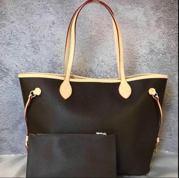 NUOVA Borsa a tracolla donna con portafoglio a portafoglio 40996 Shopping bag in vera pelle colori completi Interni 40995 Buon prezzo