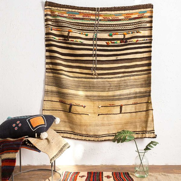 Vision Taste Manual Weave Wool Antique Collection Level Nation Wind Arts Tapestry Carpetgc193kilimyg40
