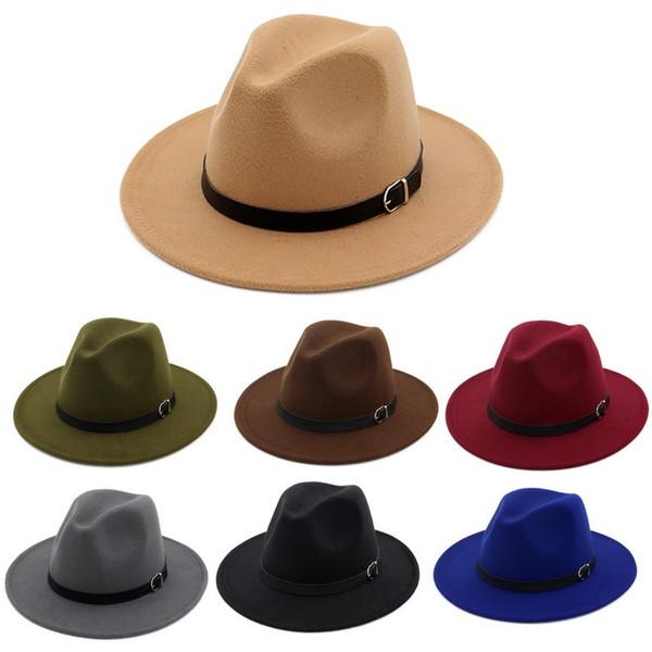 Winter Herbst Nachahmung Woll Frauen Männer Damen Fedoras Top Jazz Hut European American Round Caps Bowler Hats