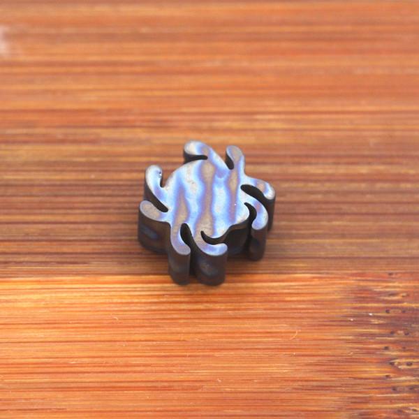 Flame Titanium TC4 key Knife Parachute Cord lanyard Pendant Bead Necklace Bracelet String outdoor Camping Accessories EDC Tools