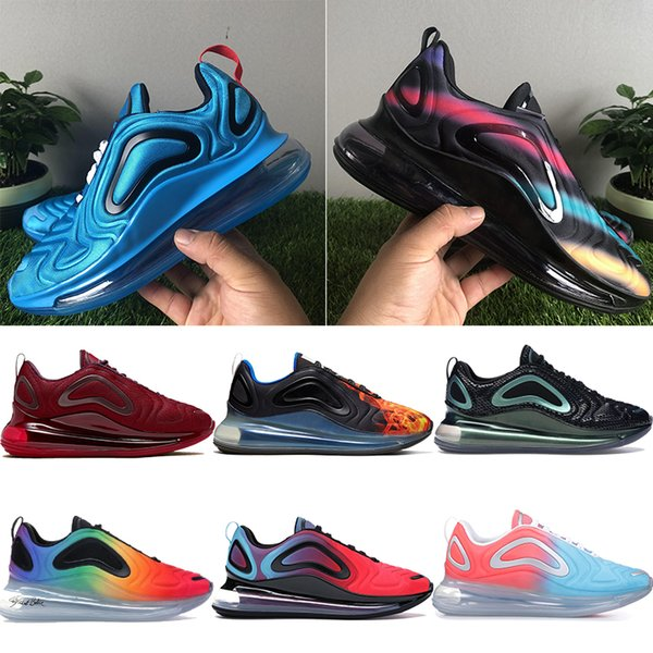 New iridescent mesh 720TN running shoes men women team red China Space be true sea forest triple black white mens designer trainers