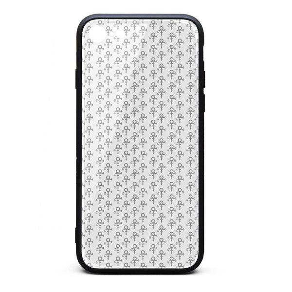IPhone 8 Case iPhone 7 Case Prince logo pattern white gray fashion anti-scratch TPU Soft Rubber Silicone Cover Phone Case