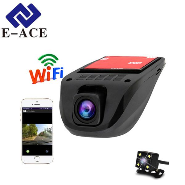 E-ACE Wifi Car DVRs Dash Camera Video Recorder Camcorder Dual Camera Lens Hidden Mini Full HD 1080P Auto Reistrator Dvr