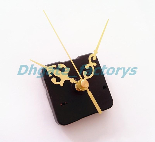 Quartz Clock Movement No Tic Sweep Spindle Mechanism Repair Kit + Hour Minute Second Hands Free Shipping