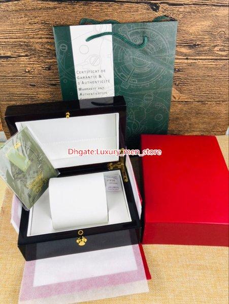 Scatole per orologi di lusso per scatole di orologi per fornitori di fabbrica Scatole per orologi di orologi per orologi di lusso per AP con fogli di carta Regalo in vero legno originale