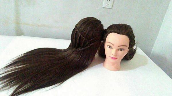 Peluca cabeza molde Mezcla de seda maniquí peluca práctica novia trenza pelo placa maquillaje maquillaje corte de pelo muñeca modelo cabeza cabeza abrasiva