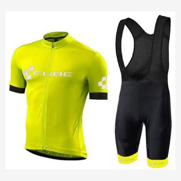 2019 cube radfahren clothing sommer bike jersey 3d gel pad shorts anzug männer set ropa ciclismo kits hohe qualität fahrrad kleidung tragen 122004y