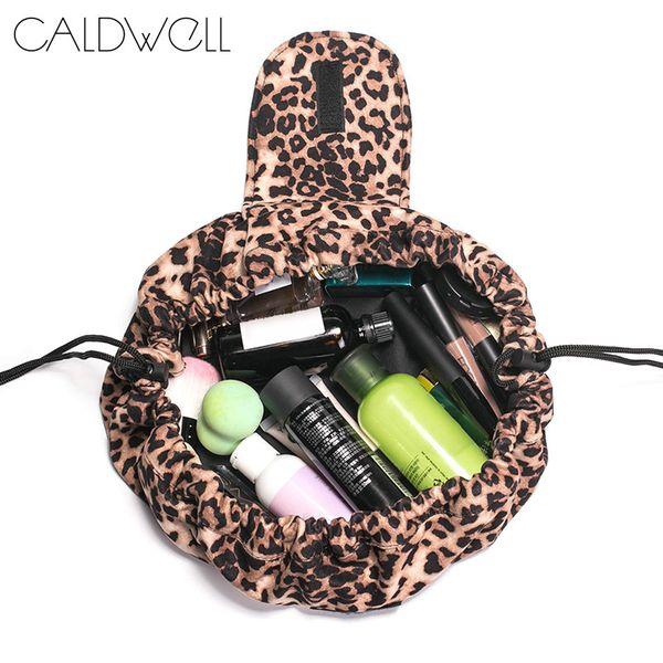 2019 Hot Fashion Leopard Cosmetic Sac Voyage Portable Maquillage Pouch Stockage Trousse De Toilette WML99