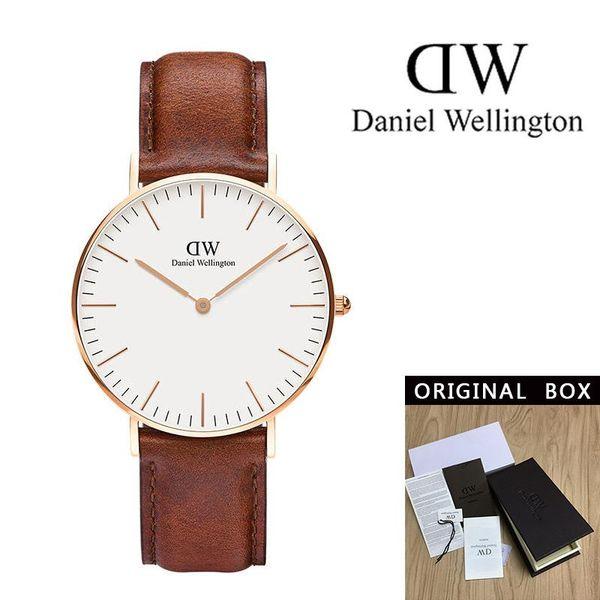 Reloj mujer 2018 New Daniel montres de luxe WELLINGTON montres pour femmes de la mode hommes montres bracelet en cuir montres à quartz noir Homme DW