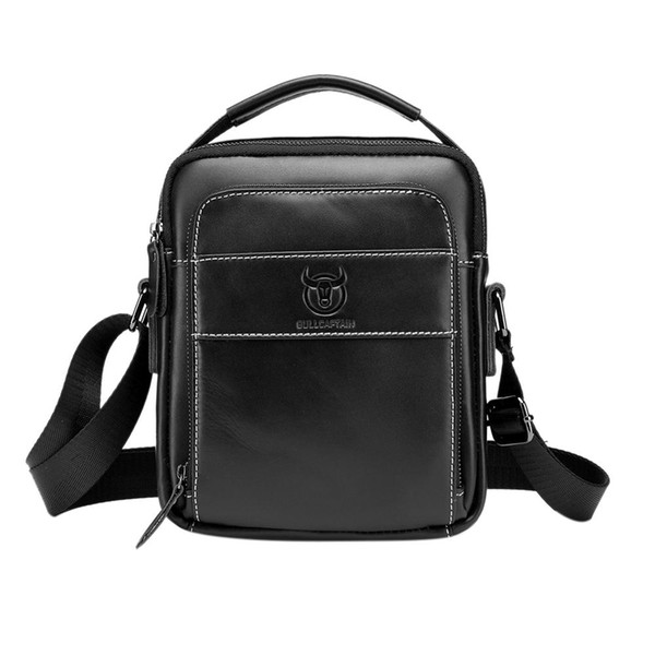 BULLCAPTAIN Man Crossbody Pack Genuine Leather Men Messenger Bag for Male Small Flap Fashion Shoulder Bags Men's Travel Handbags