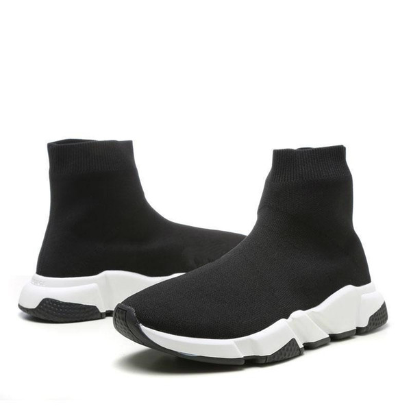 With Box 2019 Brand Speed Runner Luxury Shoes Sock Designer Shoes Triple Black Oreo Red Flat Trainer Men Women Shoes US4.5- US13